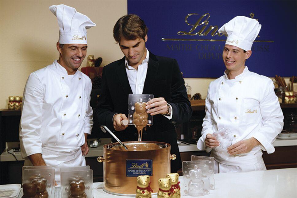 Roger Federer en la inauguración de una boutique de Lindt/Foto: Lindt&Sprunglli, photopress/Alexandra Wey