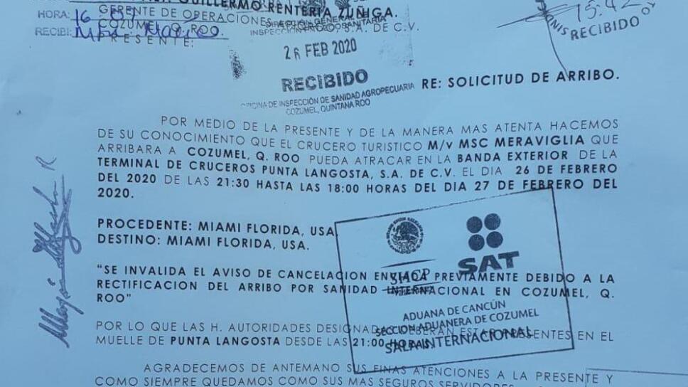 Sin casos sospechosos o en estudio por coronavirus en Quintana Roo; impiden arribo de crucero a Cozumel