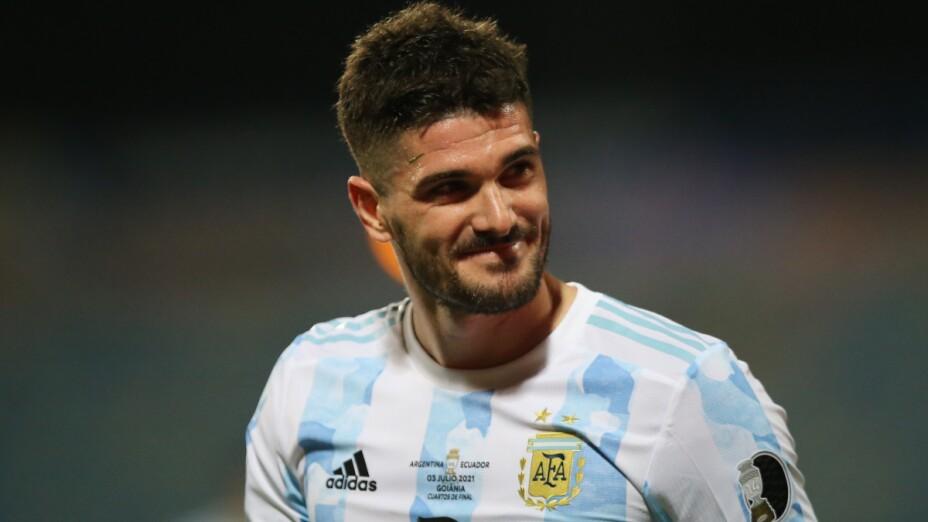 Rodrigo de Paul con Argentina