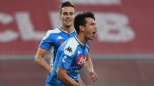 Con gol del 'Chucky' Lozano, Napoli gana y respira en la Serie A