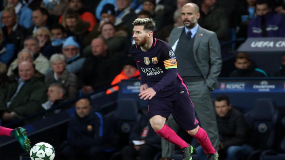 Guardiola y Messi