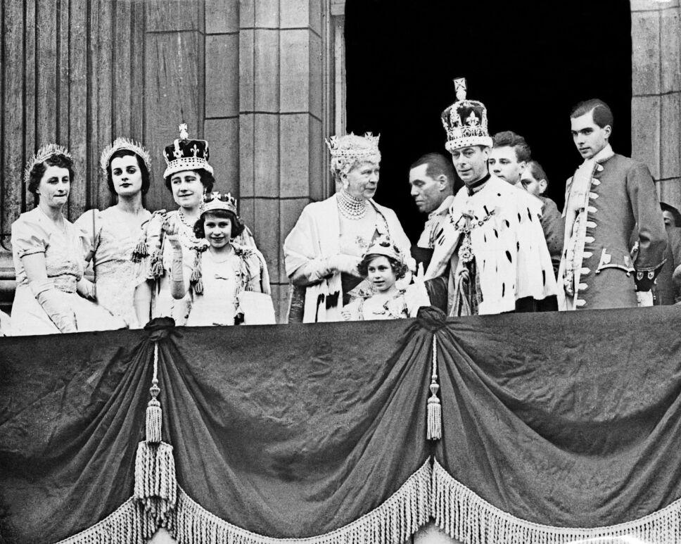 Rey Jorge VI y su hija Isabel