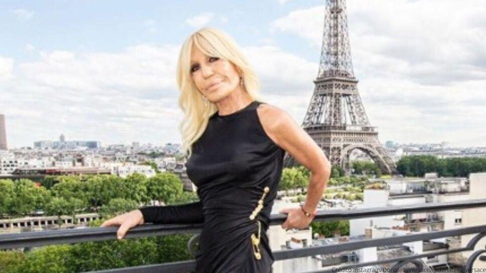Donatella Versace en Paris