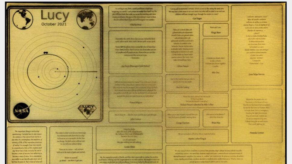 Cápsula del tiempo, Lucy, NASA A.jpg