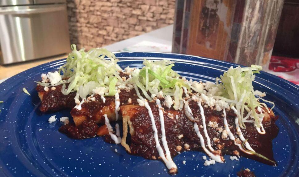 Enchiladas de picadillo