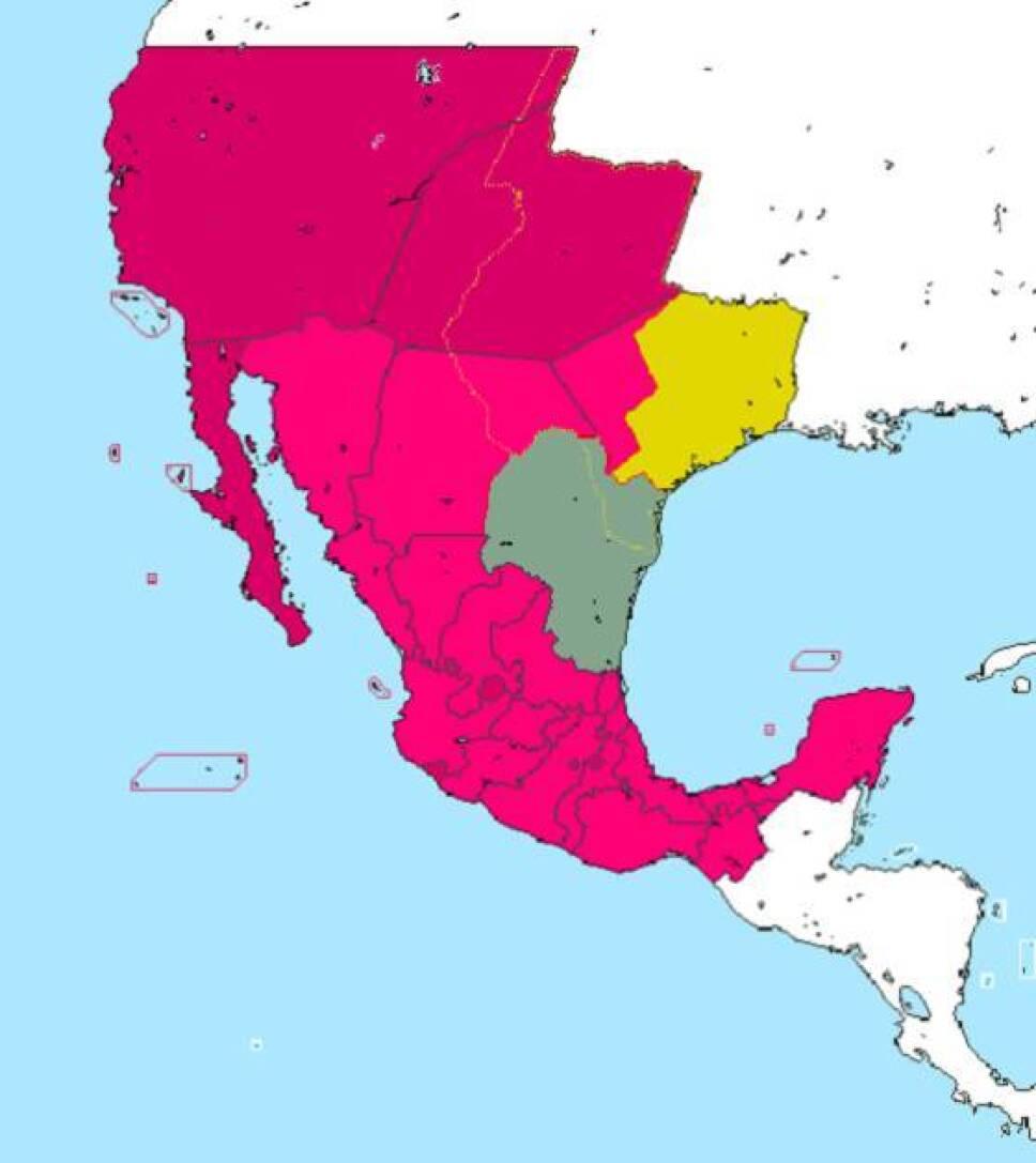 mapa mexico 1840