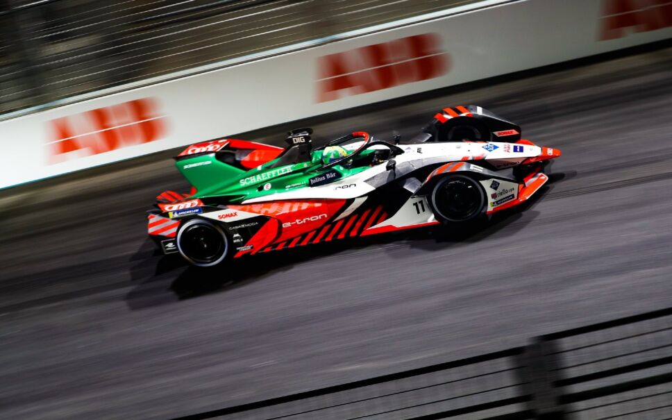 Lucas di Grassi, durante una carrera de Fórmula E