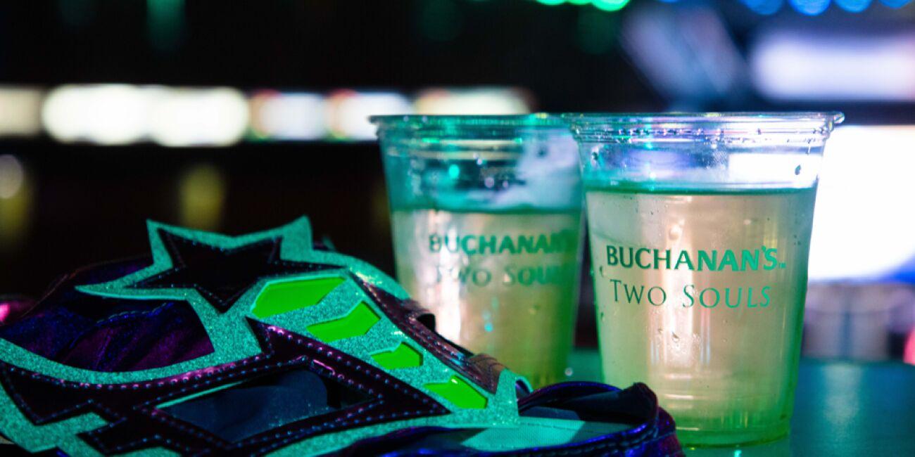 Durante la pelea, los asistentes pudieron probar el nuevo Buchanan's Two Souls