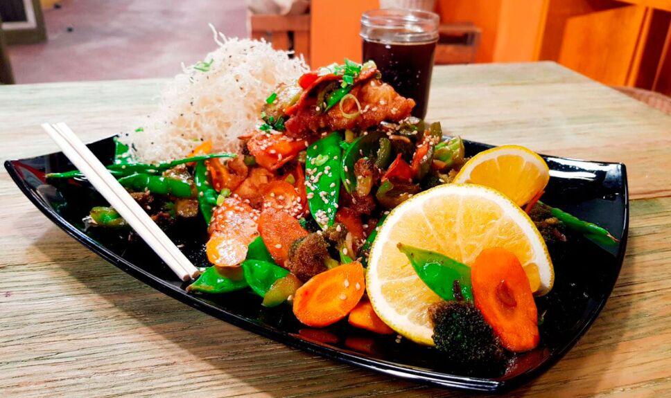 Receta Cerdo frito agridulce estilo oriental