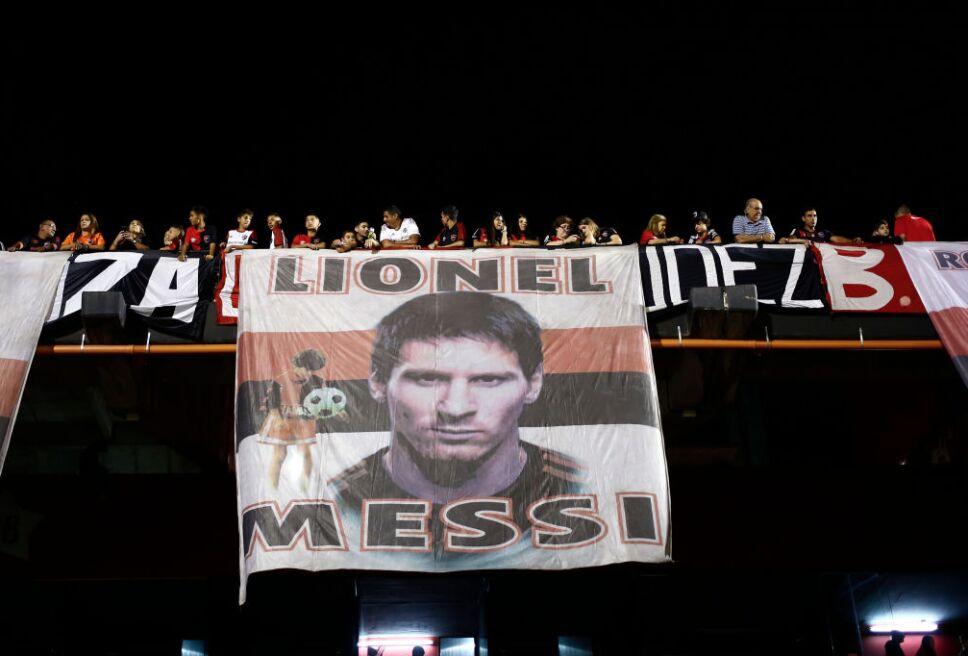 La hinchada de Newell's sueña con el regreso de Messi