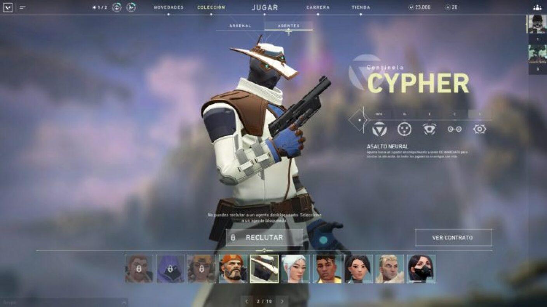 Agente Valorant 10: CYPHER