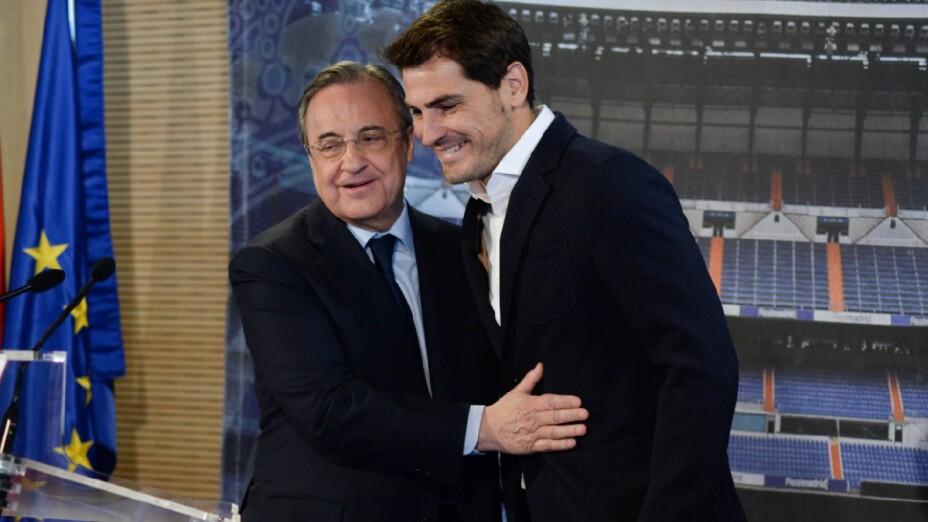 Iker Casillas y Florentino Pérez