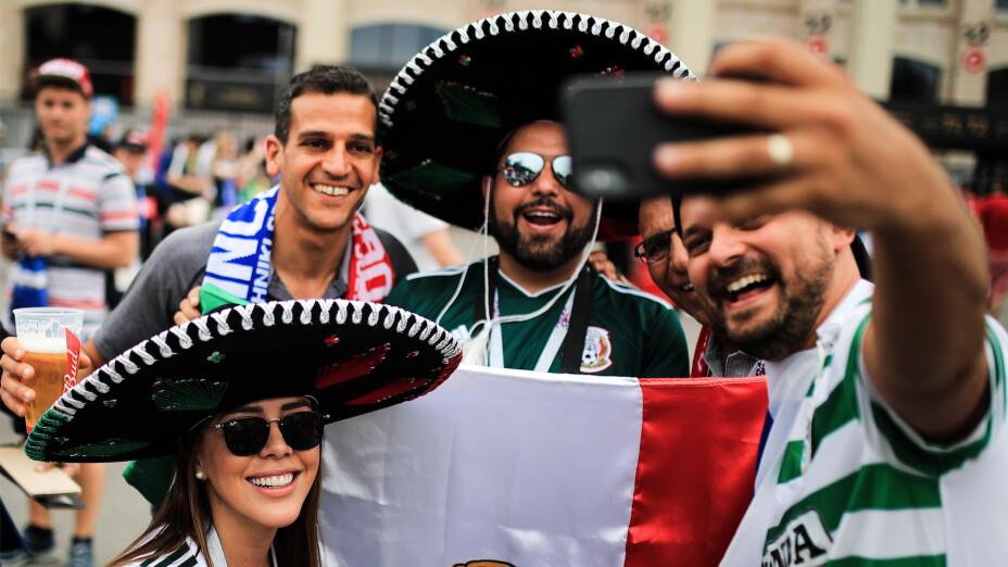Aficion de Mexico en Mundiales