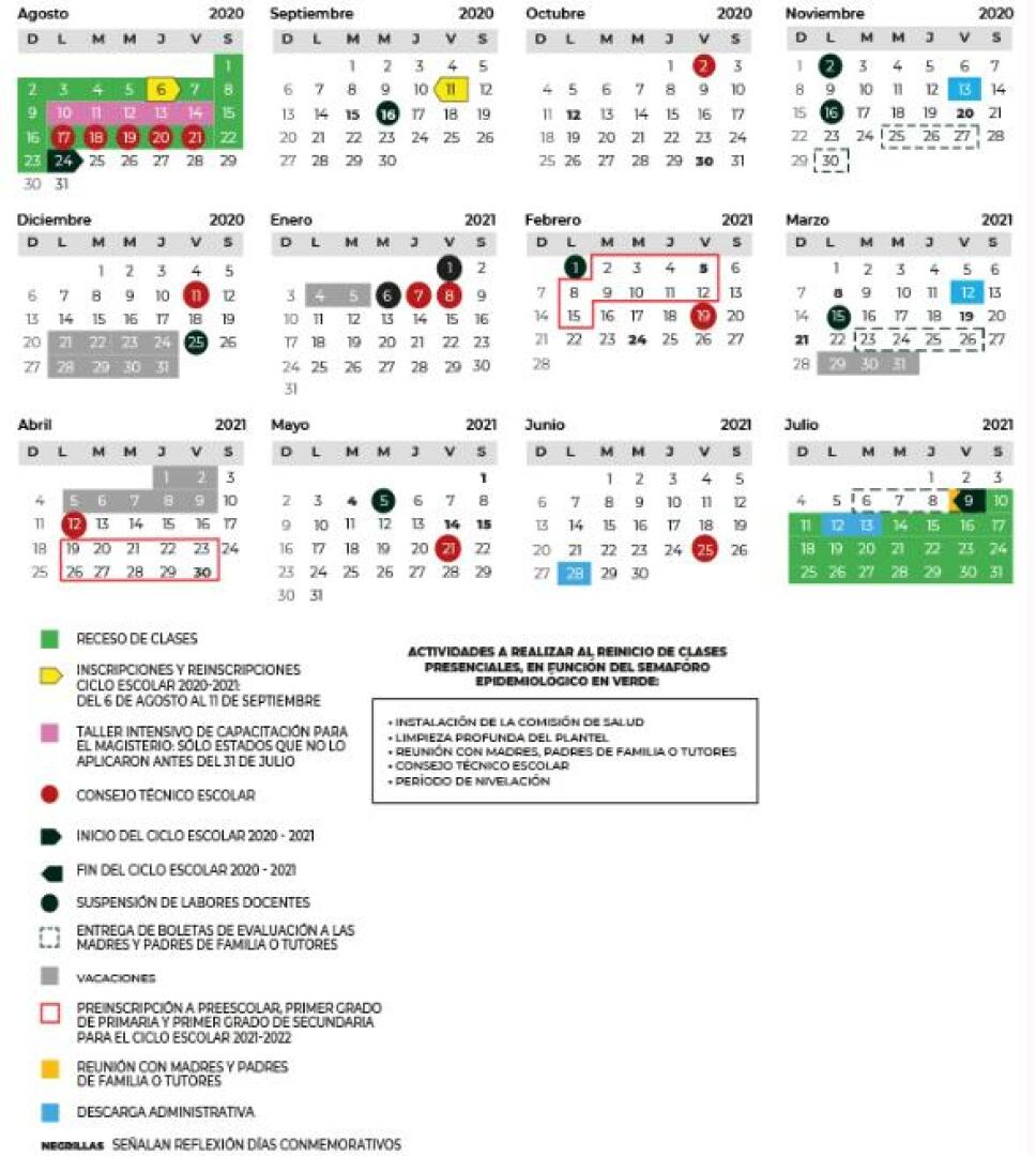 SEP modifica el calendario escolar por las inscripciones