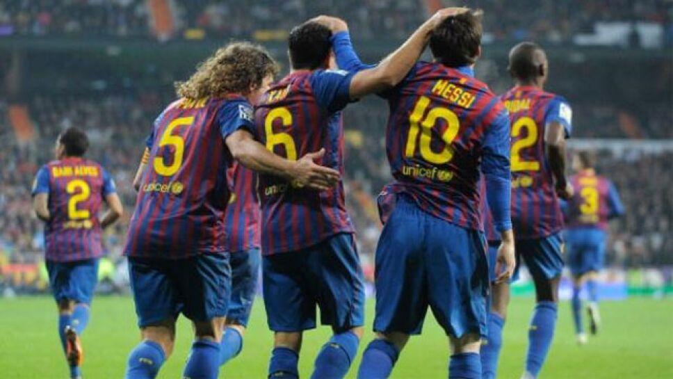 Xavi, Messi y Puyol
