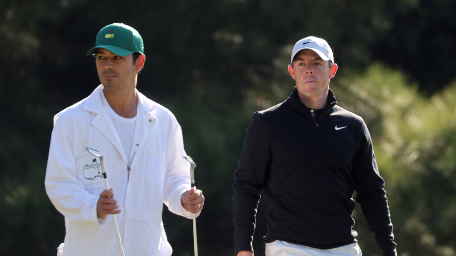 Rory McIlroy durante la ronda de práctica del Masters