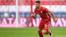 Lucas Hernández en partido con el Bayern Munich
