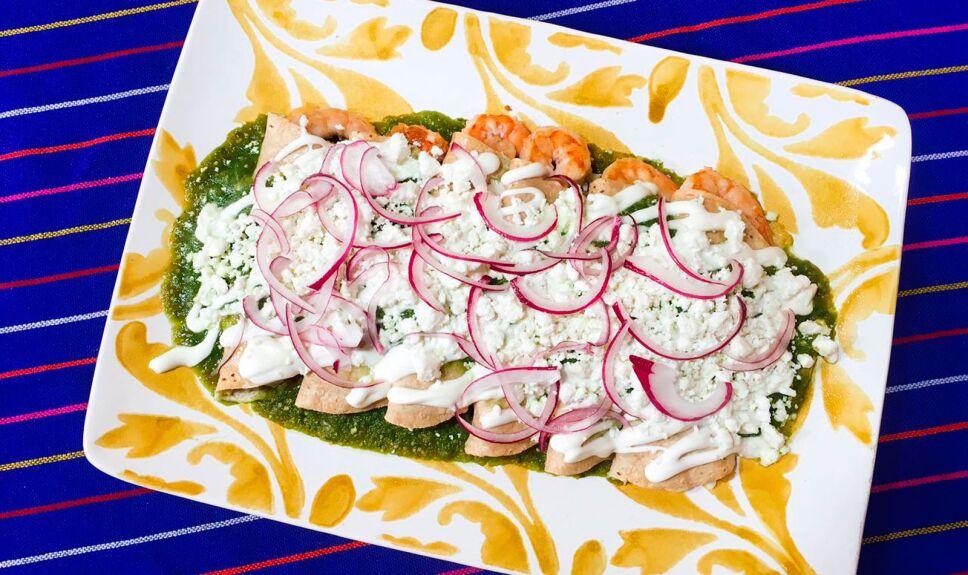 Receta Enchiladas de camarón y queso en salsa verde