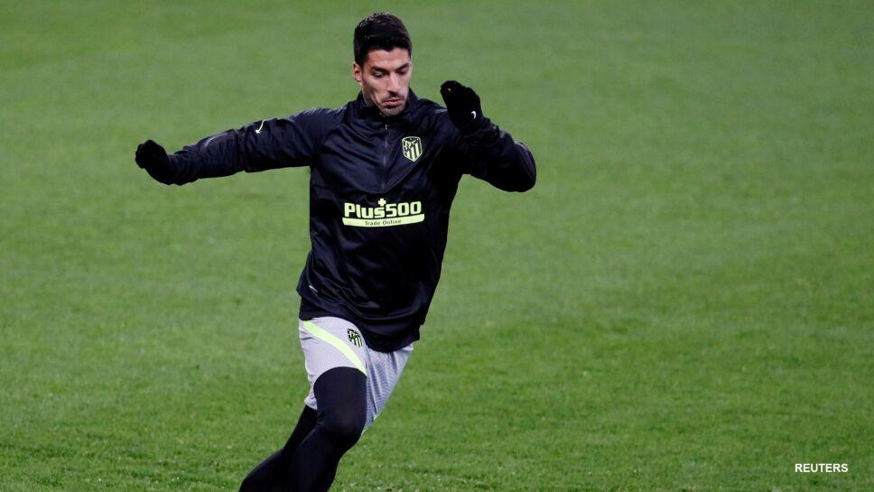 Luis Suárez en el entrenamiento