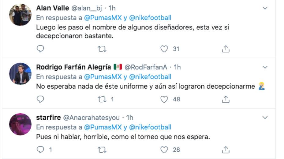 La afición de Pumas arremetió contra la playera de Pumas.