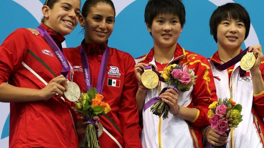 Ganan la plata Alejandra Orozco y Paola Espinosa en plataforma de 10 metros.