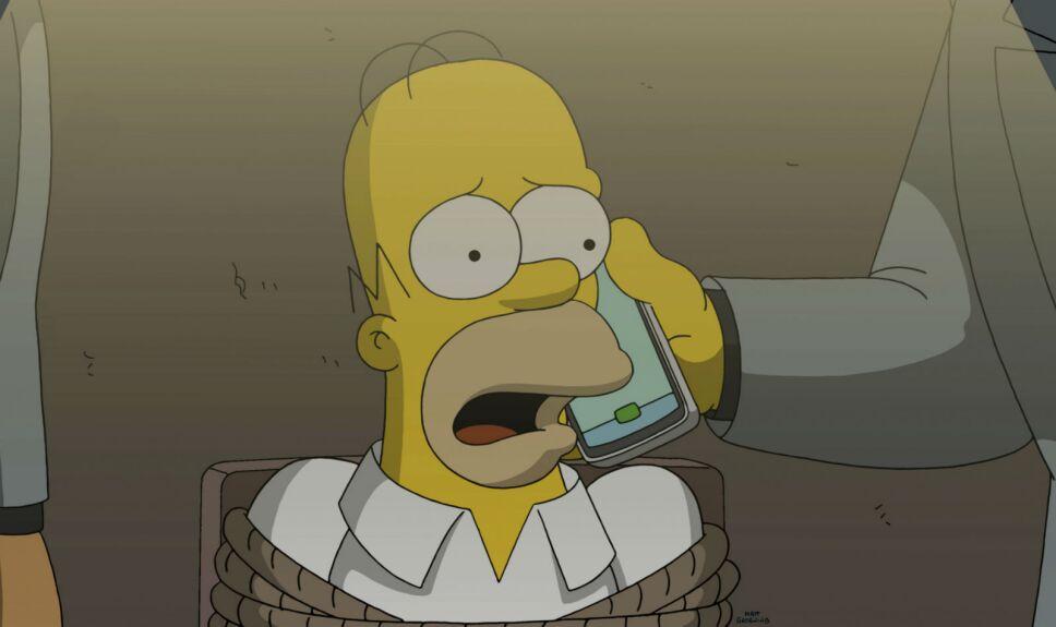 Los Simpson Policía del cielo