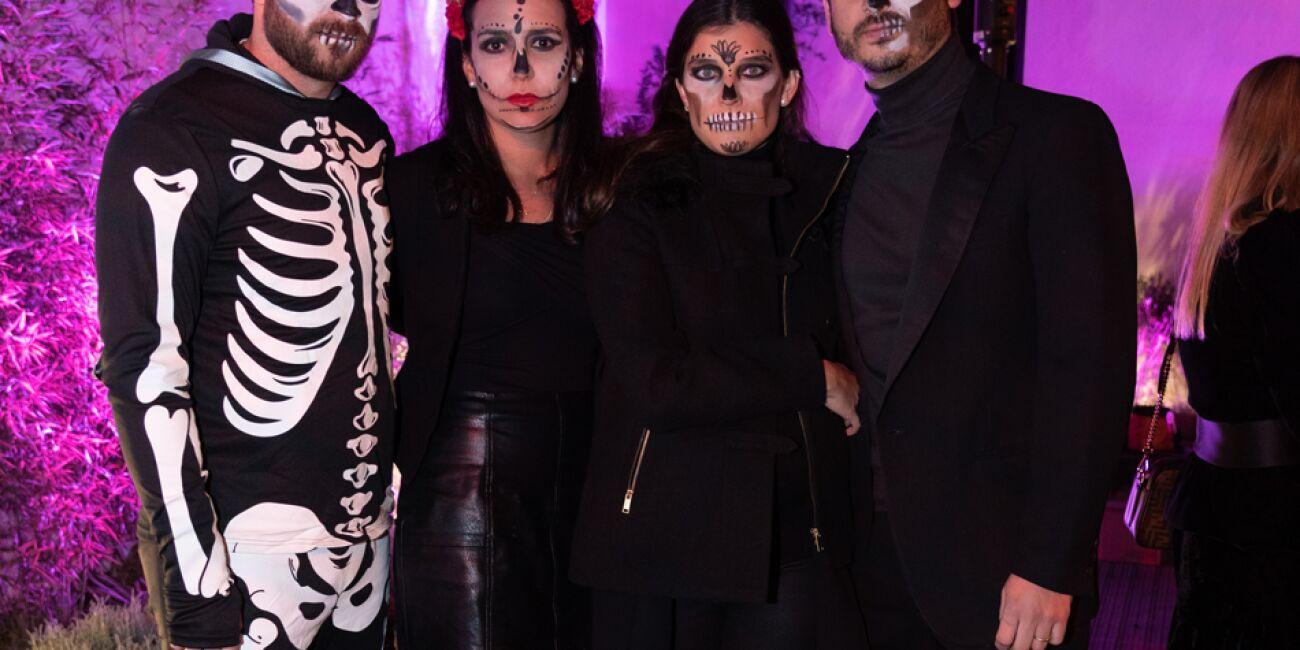 Severiano García y María Estevez con María y Diego Gómez