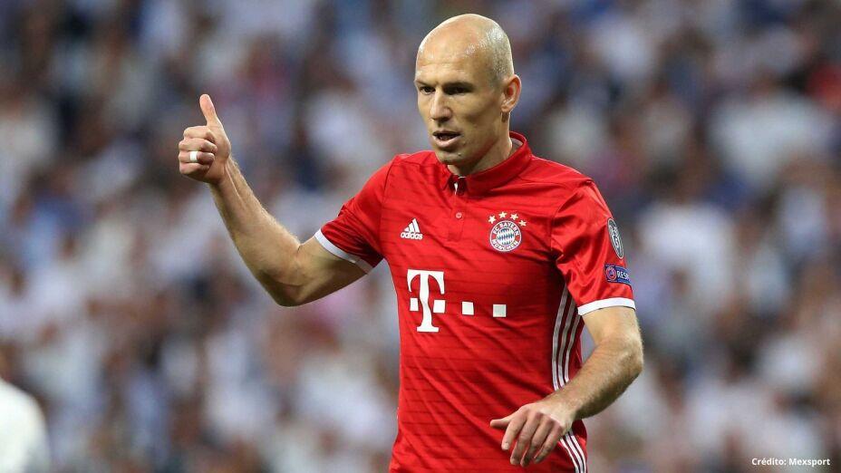 Arjen Robben con el Bayern Munich