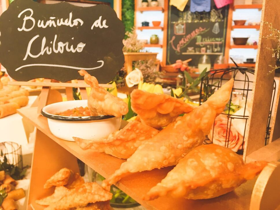 Bueñuelos de chilorio, cocineros mexicanos