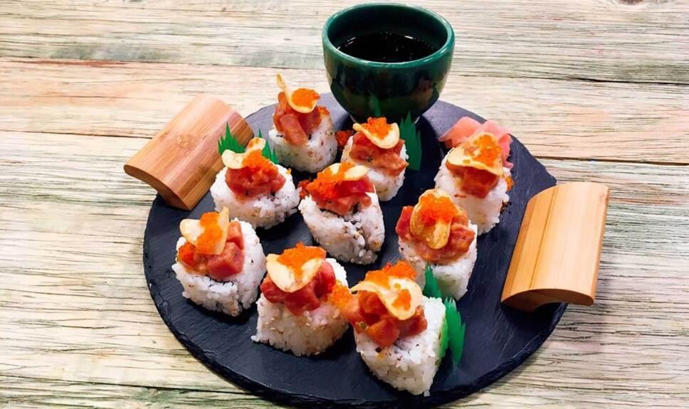 Receta Sushi picante de atún Cocineros Mexicanos