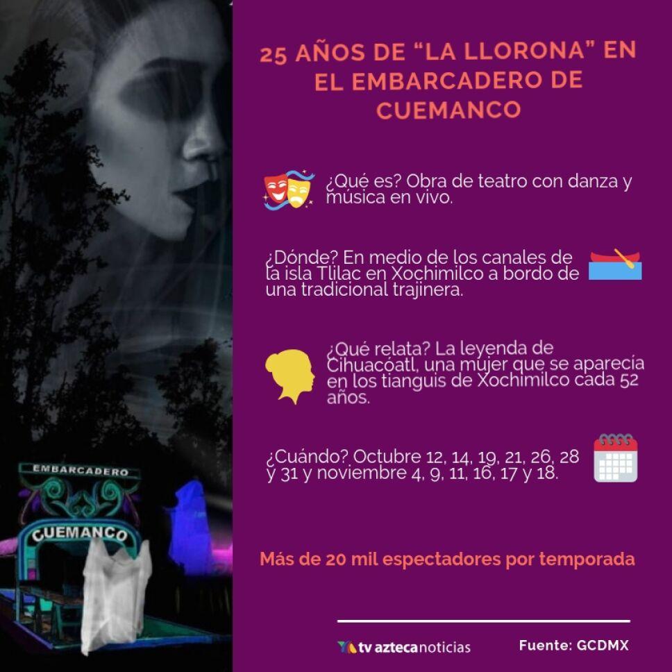 Celebra los 25 años de La Llorona en Cuemanco