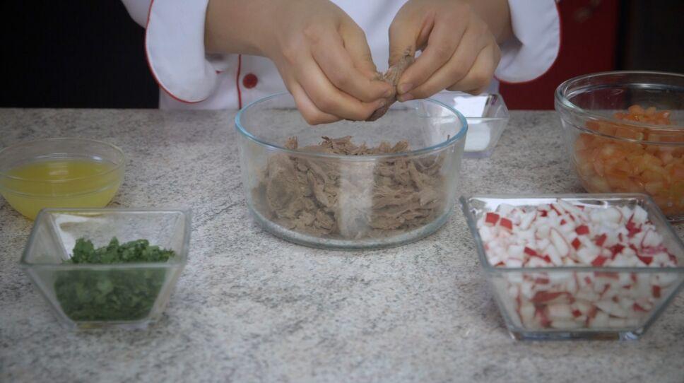 Salpicón de venado receta de MasterChef Junior