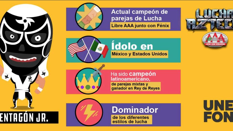 Pentagón Jr., ídolo en México y Estados Unidos.