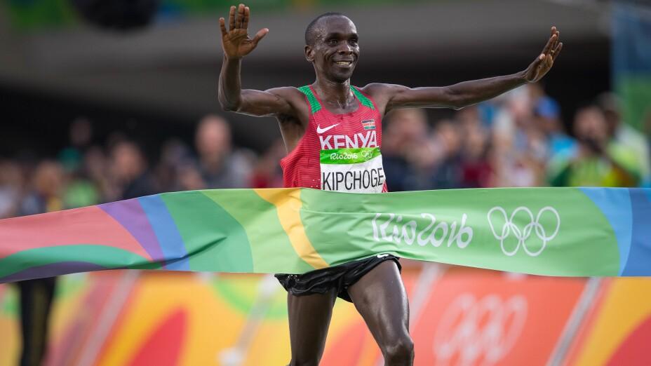 Eliud Kipchoge, en los Juegos Olímpicos de Río 2016