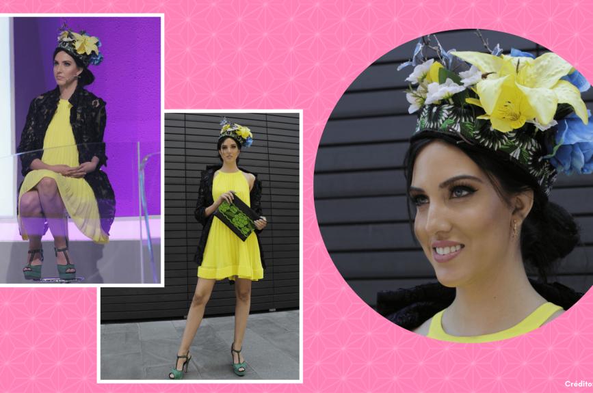 Para agregarle el toque mexicano, Dafne bordó su sombrero y le colocó mariposas y flores.