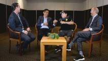 Maradona con Jorge Campos, Luis García y Martinoli