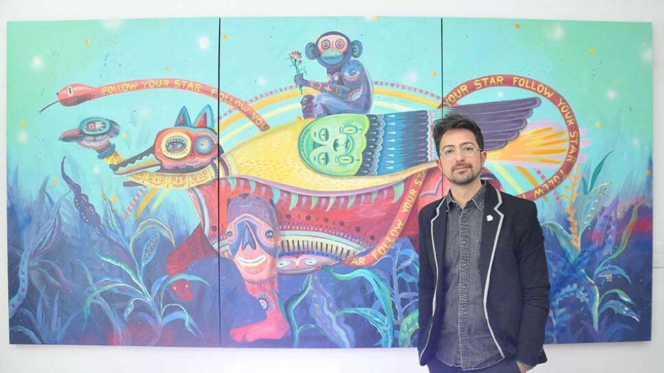 El artista Jorge Tellaeche