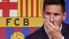 Lionel Messi se despide llorando del club Barcelona