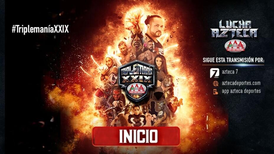 Triplemanía XXIX azteca deportes 14 de agosto