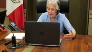 Conferencia de Olga Sánchez Cordero, secretaria de Gobernación