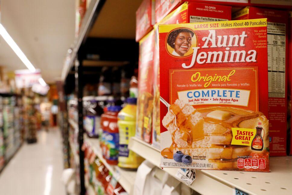 Aunt Jemima branded syrup