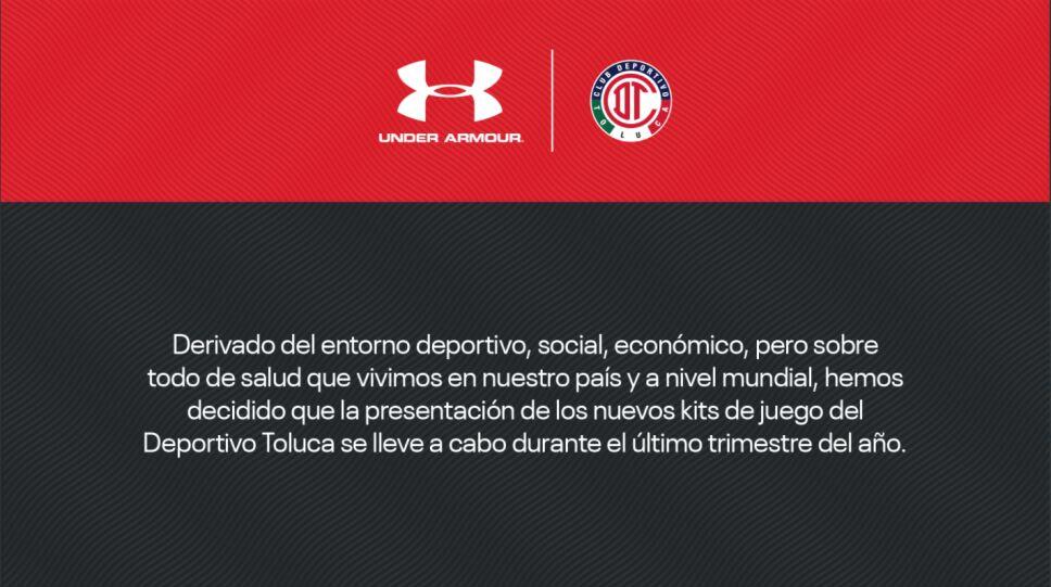 Under Armour canceló la presentación de la playera de Toluca