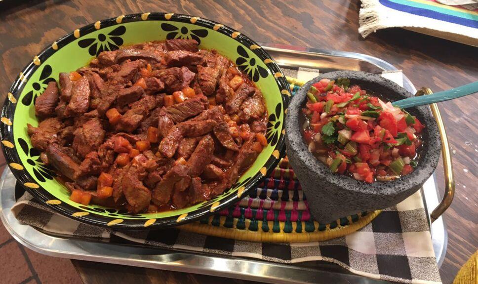 carne enchilada Cocineros Mexicanos