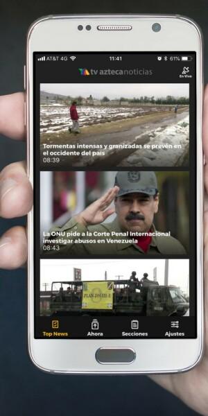Aplicación de Azteca noticias