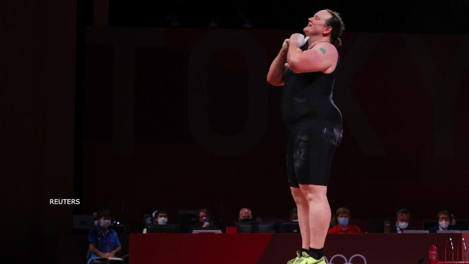 Laurel Hubbard transgenero levantamiento de pesas