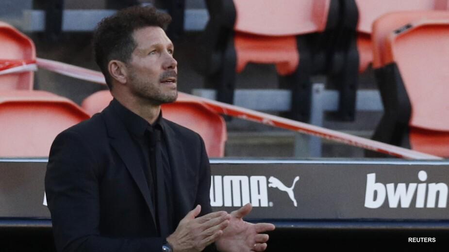 El técnico del Atlético de Madrid Diego Simeone