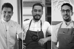 Tres chefs de Mexico contempor´áneo Atzin Santos, Fernando Martinez, Oswaldo Oliva