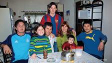 Celia María Cuccittini y Lionel Messi