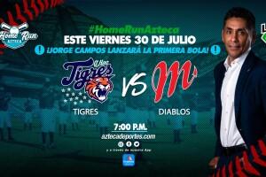Jorge Campos lanzará la primera bola en el partido Tigres vs Diablos