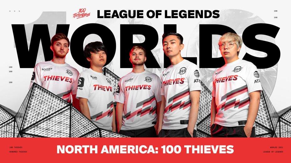 100 thieves clasifica al Worlds 2021
